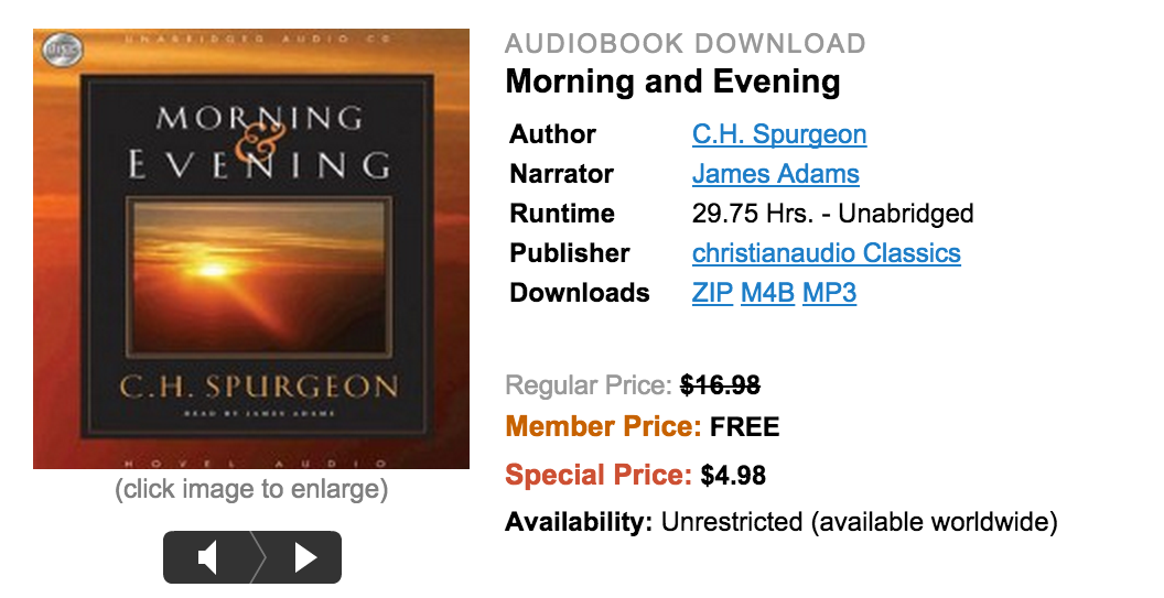 charles spurgeon morning and evening pdf